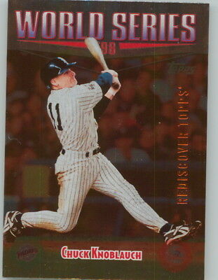 CHUCK KNOBLAUCH 2017 Update REDISCOVER TOPPS Buyback BRONZE FOIL 1999 Yankees