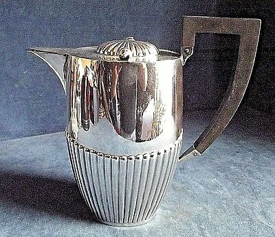 SUPERB ~ SILVER Plated ~ FLUTED Juice / Water JUG ~ c1900 by Zimmerman