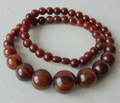 ancien COLLIER ART DÉCO BAKELITE ambre foncé  (TEST+) old amber color NECKLACE