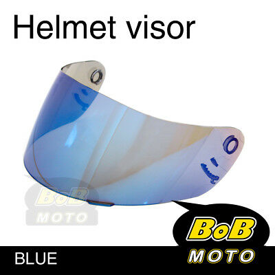 Blue Tinted Shield Helmet Visor Fit Shoei Multitec X-Eleven RAID 2 II TZ-R AU