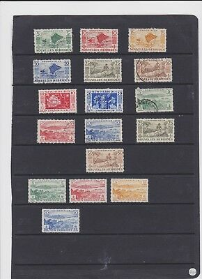 New hebrides m/mint and fine used 1953-57