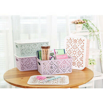 Hollow Out Storage Basket Storage Bin Hollow Out Holders Box for Socks Towel