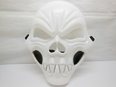 12Pcs Plastic White Skull Mask Dress Up Masks Party Favor