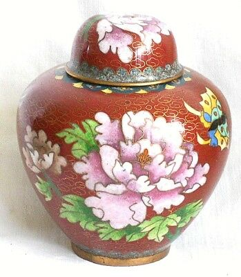 C19Th Chinese Cloisonne Lidded Ginger Jar