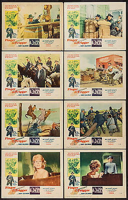 FINGER ON THE TRIGGER orig 1965 lobby card set RORY CALHOUN 11x14 movie posters