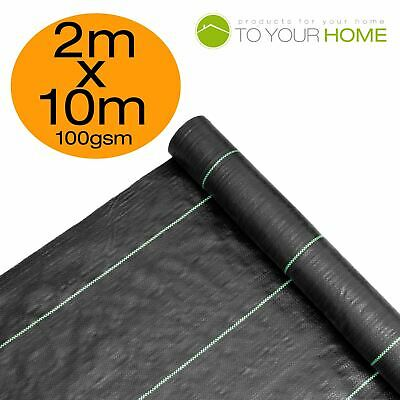 2m X 10m Ground Cover Fabric Landscape Garden Weed Control Membrane Heavy Duty