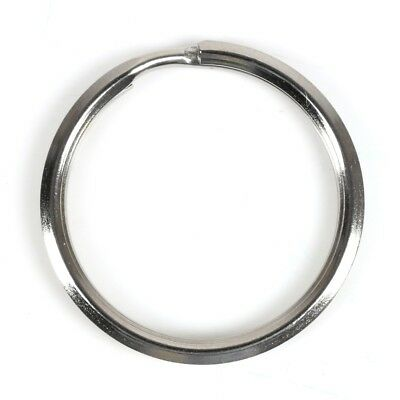 25mm STRONG STEEL SPLIT RING Keyring Hoop Key Ring Loop Silver Round Chain Link