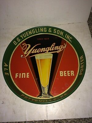 "Vintage 1940's Very Rare D. G. Yuengling & Son, Inc. Beer Tray,12"",Pilsner Glass"