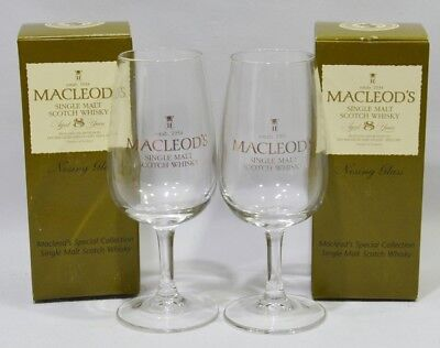 MACLEOD'S Single malt Whisky 2 verres dégustation à pied nosing glassNEUF