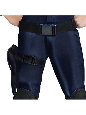 Adults SWAT Web Belt with Holster Thigh Strap Police Costume Accessory