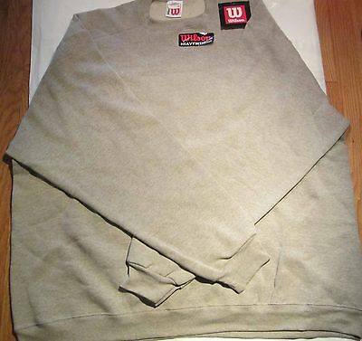 Wilson Sweatshirt 2XL Heavy weight 3 Pc 2 Color 50/50 Cotton/Polyester Bamboo