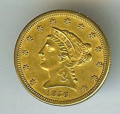 1856-O Liberty Head Gold $2.5 Uncirculated   Low Mintage & Very Rare In Unc!