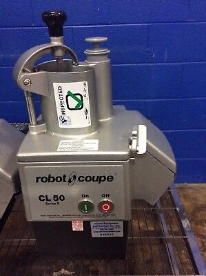 Robot Coupe Cl50 E Series 1-Speed Cutter Mixer Commercial Food Processor