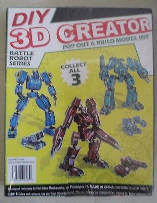 DIY 3D CREATOR Battle Robot Series Model - 83 Pieces - 12 Inches