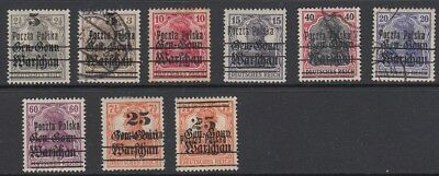 Poland 1918 - 1919 , 9 stamps.