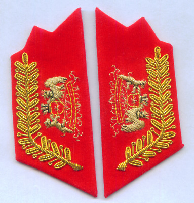 Chile Augusto Pinochet Presidente General Marshal Collar Tabs Officer Uniform El