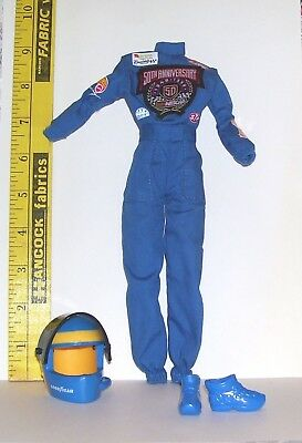 Barbie Mattel Nascar Anniversary Racing Outfit With Helmet Also Fits Silkstone