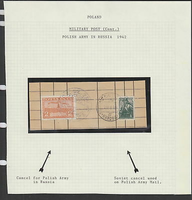 Poland / Russia 1942 piece with Polish Army in Russia cancels