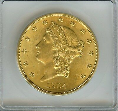 1904 Liberty Head $20 Gold Double Eagle  Icg Ms65