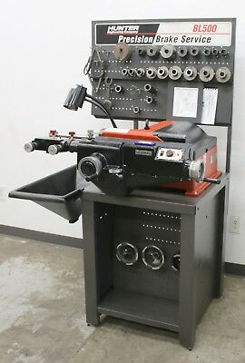 Hunter Engineering BL-500 Brake Lathe w/ Bench and Adapter Kit