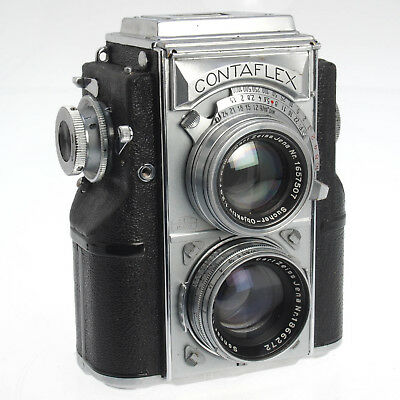 Zeiss Ikon Contaflex 860/24 Rare Collectible 35mm TLR w Xeiss Sonnar 5cm F2 Lens