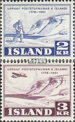 Iceland 273-274 (complete.issue.) Volume 1951 completeett fine used / cancelled