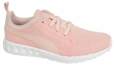 7511ab4e8bc1 Puma Carson Runner Mesh Unisex Trainers Running Shoes Pink Lace Up 189173  01 D50