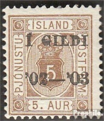 Iceland D12B fine used / cancelled 1902 print edition service marks