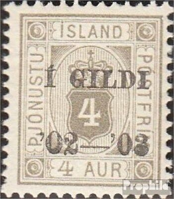 Iceland D11B fine used / cancelled 1902 print edition service marks