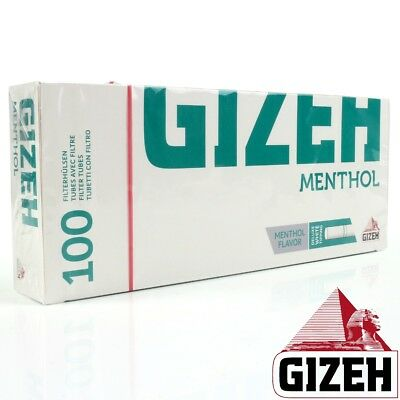 GIZEH EMPTY MENTHOL FILTER TUBES Make Your Own 100/300/500 Cigarette Smoking