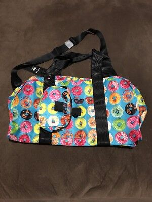 ZARA TEREZ Duffle Bag Colorful Doughnuts With Small Matching Cosmetic Case