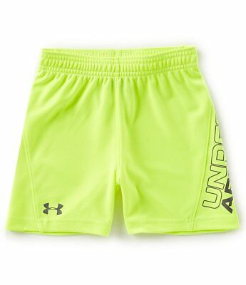 New Under Armour Little Boys Kick Off Shorts Choose Size - Neon Yellow