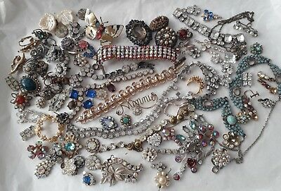 Mixed Job Lot Of Vintage, Retro, Modern Jewellery Broken Repair Harvest Craft