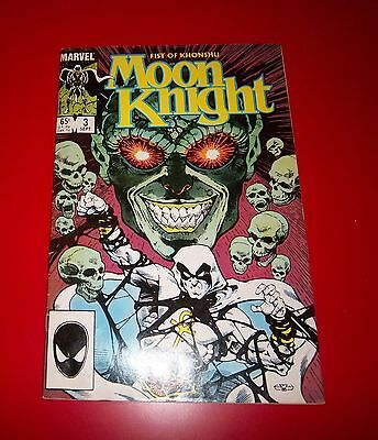 Moon Knight Vol. 2 #3 - Fist of Khonshu A Madness of Dreams Great Condition 1985