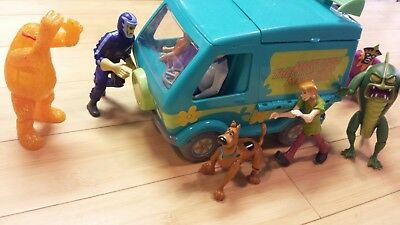 Scooby-Doo Mystery Machine Action Figures Lot Villains HTF Toys Whole Gang EUC