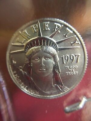 1997 Liberty $10.00 Platinum 1/10 Oz .9995 Coin