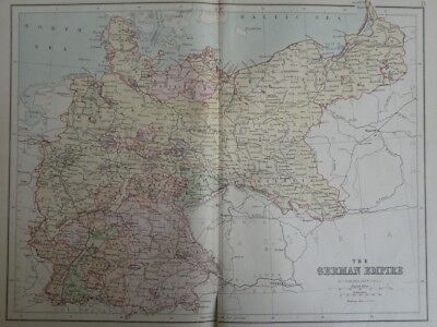 Map of The German Empire. (Nr. 15) from Philips' Comprehensive Atlas 1852. By Ba