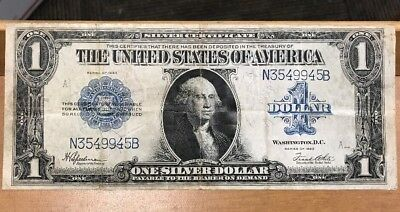 1923 U.S. Large Size One Dollar Silver Certificate Original Condition!