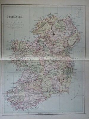 Map of Ireland (Nr. 6) from Philips' Comprehensive Atlas 1852. Philip, George