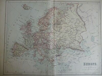 Map of Europe (Nr. 3) from Philips' Comprehensive Atlas 1852. Philip, George