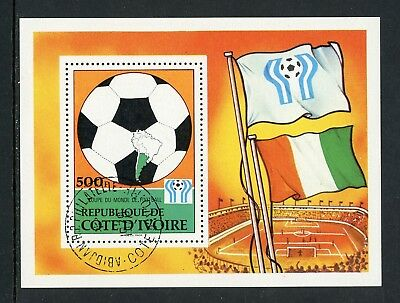 Ivory Coast Scott #471 MNH SHOW CANCEL WORLD CUP 1978 Argentina Soccer FLAGS $$