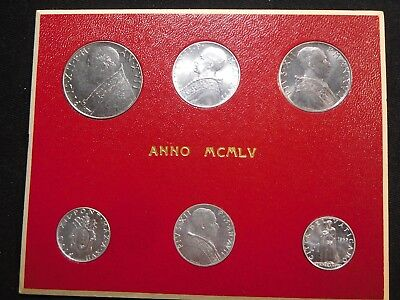W21 Italy Vatican City 1965 Silver 6 Coin Mint Set