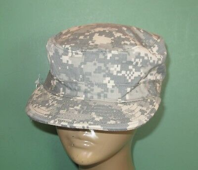 US Military Issue Army Combat Uniform ACU Camouflage Patrol Hat Cap Size 7-1/4