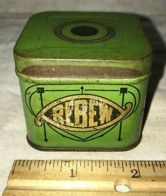 Antique Rebew Shampoo Paste Tin Litho Can Vintage Hair Care Wenona Il Barber Old