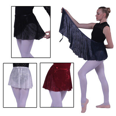 Lace Chiffon Dance Ballet Wrap Skirt with Matching Ribbon Waist Tie 4 Colour
