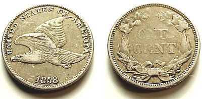 X/f 1858 Flying Eagle Cent-Small Letters-Attractive Color+Eye Appeal! Free S/h/i