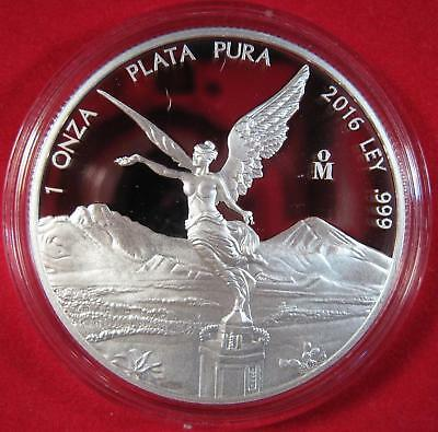 "2016 Silver .999 1 OZ. MEXICO LIBERTAD ""LADY LIBERTAD ANGEL"" Proof 13,250 Minted"