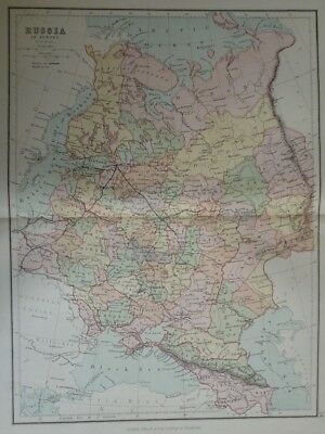 Map of Russia in Europe. (Nr. 13) from Philips' Comprehensive Atlas 1852. By W.