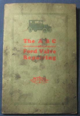 Early Vintage Ford Valve Repair Manual Albertson Little Sioux Tools