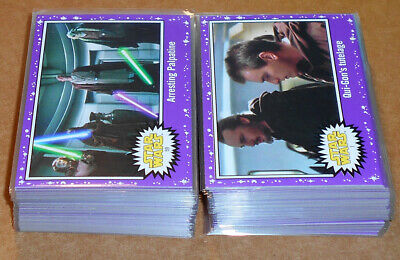 Star Wars Journey to the Last Jedi ~ PURPLE PARALLEL BASE CARD LOT (62) no dupes